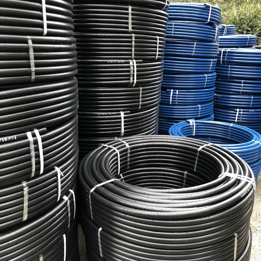PE Pipes Stacked